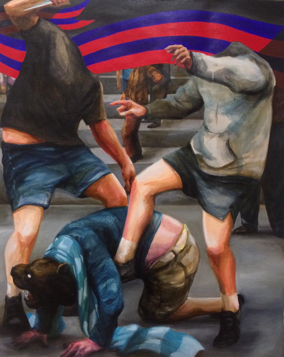 "Franco Fasoli JAZ ""Caca de Gos"" 2016 Acrylic on canvas. 100 x 81cm."