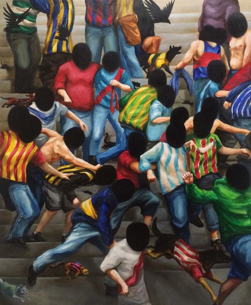 """Franco Fasoli JAZ """" El color de tu nombre"""" 2016 Acrylic on canvas. 100 x 81cm."""
