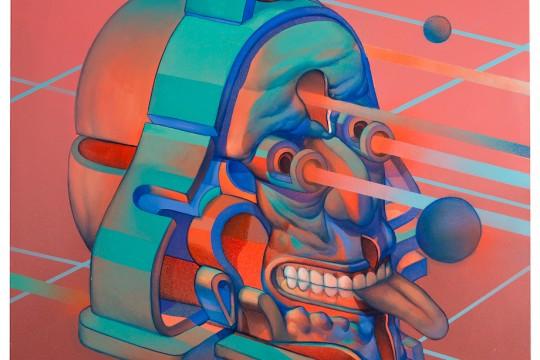 "SMITHE ""Unaware 1"" 2016. Acrylic on canvas. 80 x 100 cm."