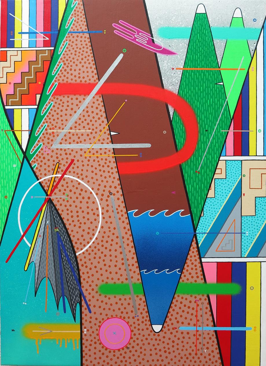 """""""naturaleza abstracta 04"""" Acrílico sobre tela. 73x100cm."""