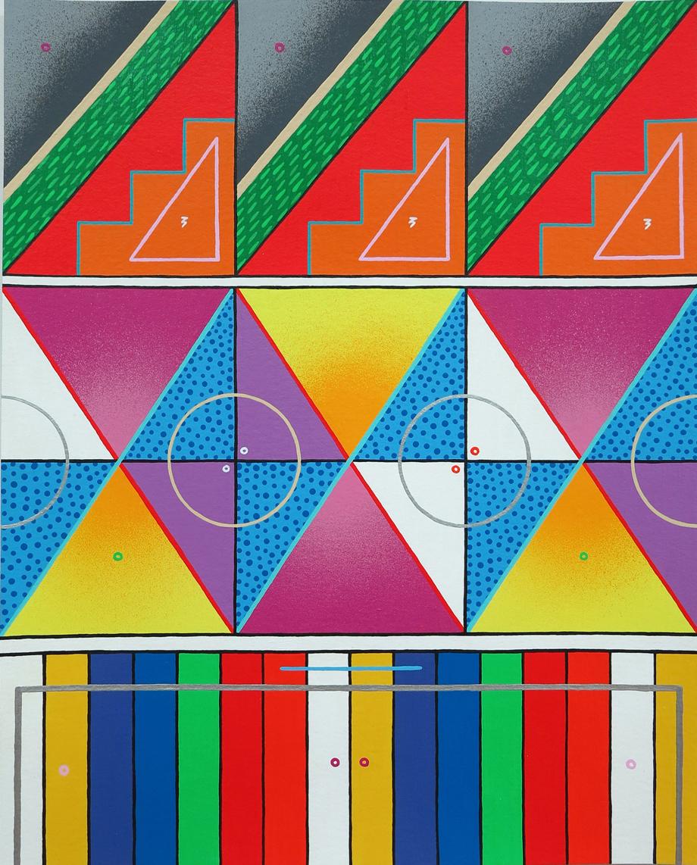 """""""naturaleza abstracta 06"""" Acrílico sobre papel (300gr). 40x50 cm"""