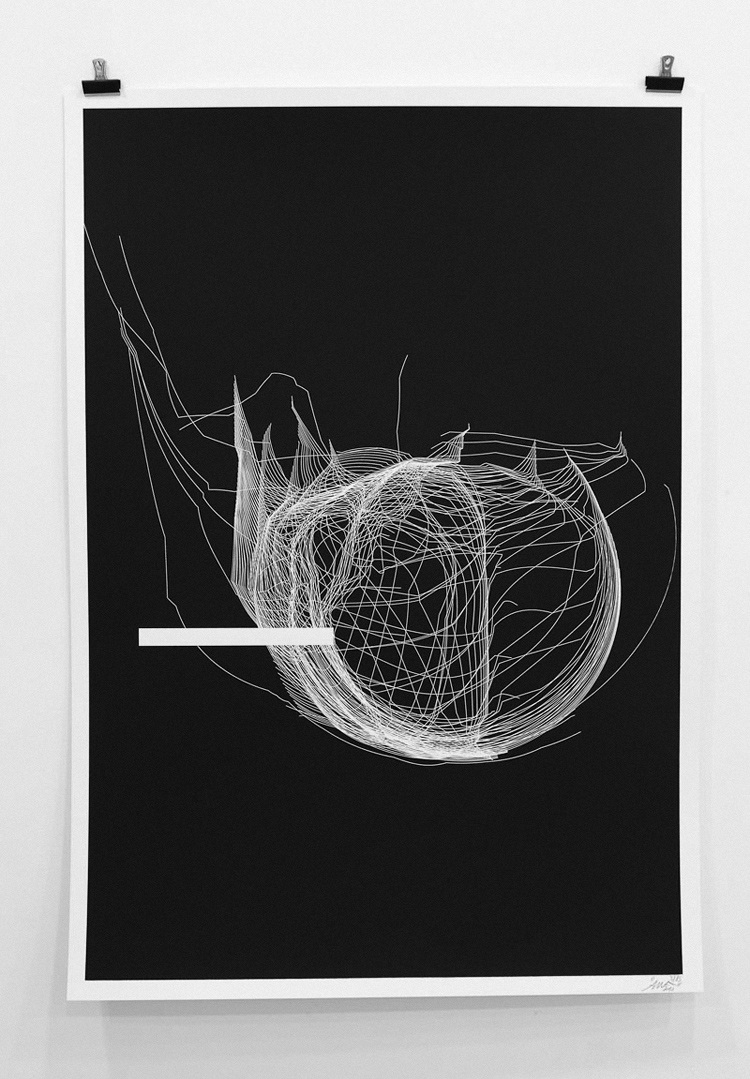 """""""Codes of Abstraction"""" 1 Color screen print Limited Edition of 15 350gr canson 70x 100cm Signed by the artist"""